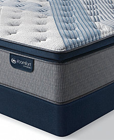 "iComfort by Serta Blue Fusion 1000 14.5""  Hybrid  Plush Euro Pillow Top Mattress Set - Queen Split"