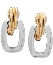 Anne Klein Two-Tone E-Z Comfort Clip-On Drop Earrings