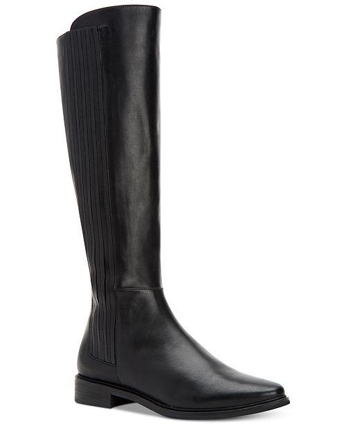61b11e7d004c Calvin Klein Women s Finley Wide-Calf Boots   Reviews - Boots ...