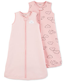 Carter's Baby Girls 2-Pc. Pink Cloud Cotton Sleep Bags Set