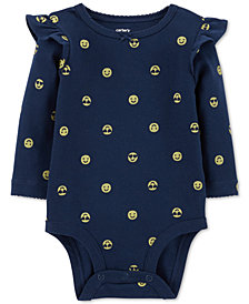 Carter's Baby Girls Emoji-Print Cotton Bodysuit