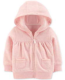 Carter's Baby Girls Full-Zip Hooded Sweatshirt