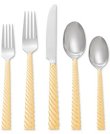 Twist Gold 5-Pc. Flatware Set