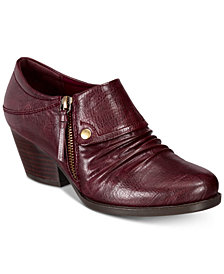 Bare Traps Rafaella Block-Heel Zip Ankle Booties