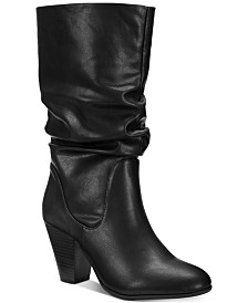 Esprit Oliana Memory-Foam Mid-Shaft Boots, Created for Macy's