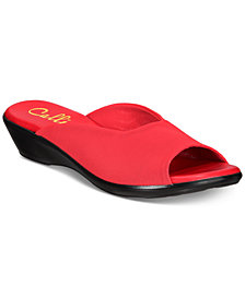 Callisto Bossy Slide Wedge Sandals, Created for Macy's