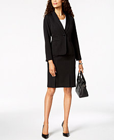 Kasper Striped Blazer & Pencil Skirt