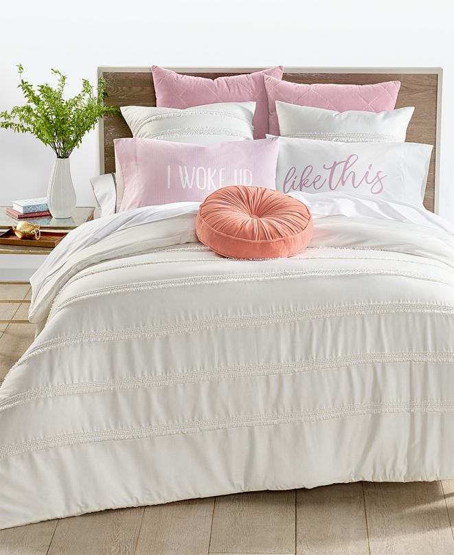 Martha Stewart Collection  CLOSEOUT! Fringe 3-Pc. Full/Queen Comforter Set, Created for Macy's