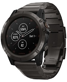 Garmin Unisex fenix® 5x Plus Gray Silicone Strap Smart Watch 51mm
