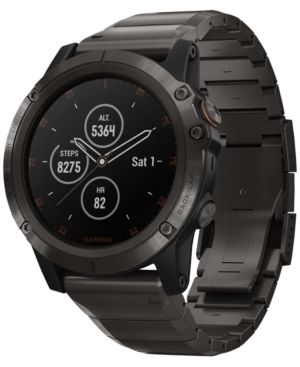 Fenix 5X Plus Sapphire Premium Multisport Gps Smartwatch With Titanium Strap, 51Mm in Gray