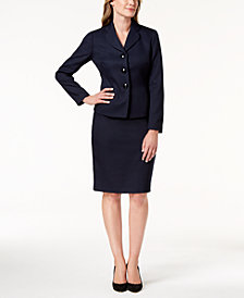 Le Suit Three-Button Skirt Suit