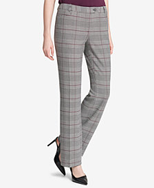 Calvin Klein Glen Plaid Modern Ankle Pants, Regular & Petite