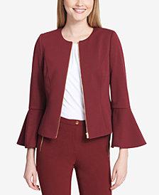 Calvin Klein Bell-Sleeve Jacket
