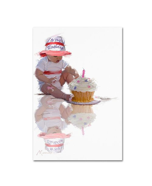 "Trademark Global The Macneil Studio 'Baby with Birthday Cake' Canvas Art - 12"" x 19"""