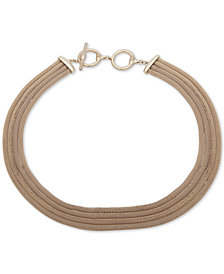 "Lauren Ralph Lauren Gold-Tone Multi-Row Mesh 17"" Collar Necklace"