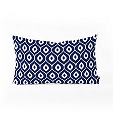 Deny Designs Aimee St Hill Leela Navy Oblong Throw Pillow