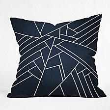Deny Designs Elisabeth Fredriksson Geometric Navy Throw Pillow