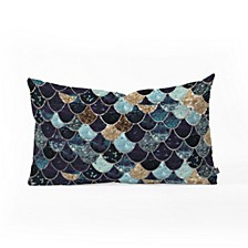 Monika Strigel Really Mermaid Mystic Blue Oblong Throw Pillow