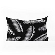 Deny Designs Kelly Haines Monochrome Palm Leaves Oblong Throw Pillow
