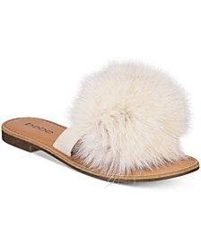 bebe Katerina Pom Pom Thong Flat Sandals