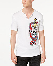 I.N.C. Men's Snake Skull Graphic T-Shirt, Created for Macy's