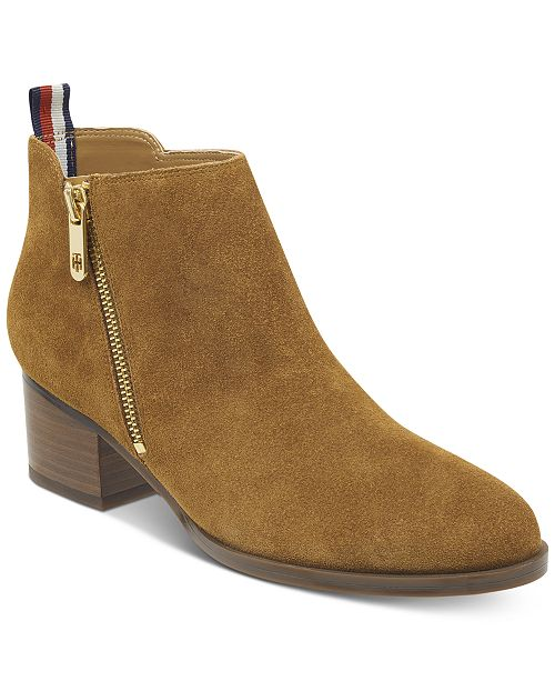 Tommy Hilfiger Women s Ruthee Block-Heel Ankle Booties - Boots - Shoes -  Macy s 3aa5e38e7b621