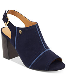 Tommy Hilfiger Relita Block-Heel Dress Sandals