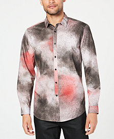 I.N.C. Men's Spray Paint Shirt, Created for Macy's