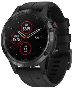 GARMIN Fenix 5 Plus Sapphire Premium Multisport Gps Smartwatch, 47Mm in Black
