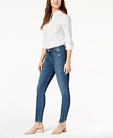 Joe's Jeans The Icon Mid-Rise Skinny Ankle Jeans with Ruched Hem