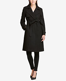DKNY Belted Double-Breasted Trench Coat, Created for Macy's