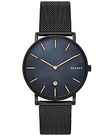 Skagen Hagen Slim Black Stainless Steel Mesh Bracelet Watch 40mm