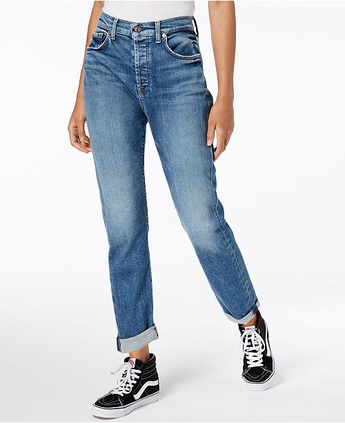 7 For All Mankind Josefina Rolled-Hem Slim Boyfriend Jeans