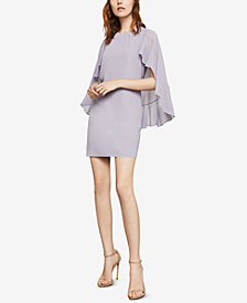 BCBGMAXAZRIA Cape-Sleeve Shift Dress