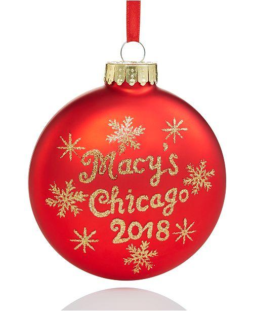 main image ... - Holiday Lane 2018 Walnut Room Glass Ornament, Created For Macy's
