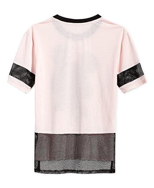 3d366b4ea7 Disney Big Girls Mesh-Trim Mickey Mouse T-Shirt   Reviews - Shirts ...