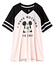 Disney Big Girls Colorblocked Mickey Mouse T-Shirt