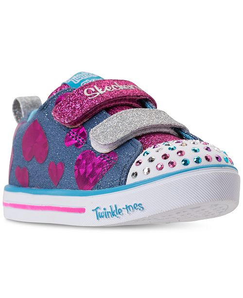0ab2af2a413f ... Skechers Toddler Girls  Twinkle Toes  Sparkle Lite - Flutter Fab  Light-Up Sneakers ...