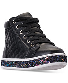 Steve Madden Little Girls' JCaffire Mid-Cut Casual Sneakers from Finish Line