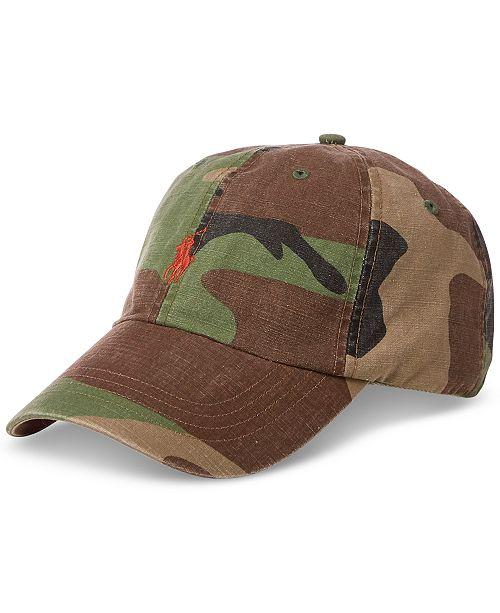 Polo Ralph Lauren Men s Camouflage Cotton Canvas Cap - Hats 8fec7bd68e19e