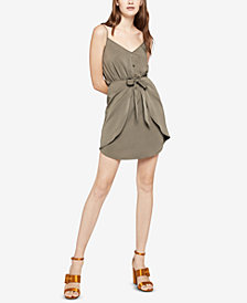 BCBGeneration Tie-Front Shirred Dress