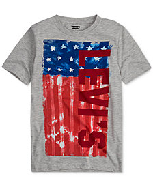 Levi's® Big Boys Red, White & Blue Logo-Print T-Shirt