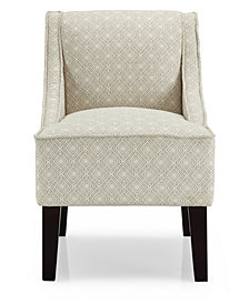 Phoenix Accent Chair, Gigi Platinum