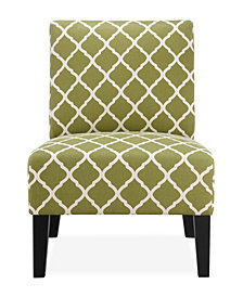 Brice Accent Chair, Green Lattice