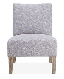 Brice Accent Chair, Blue Floral