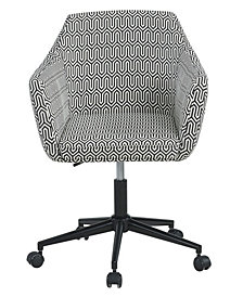 Upholstered Office Chair, Black Geo