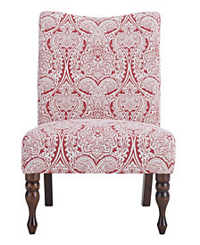 Payton Accent Chair, Paisley Ruby