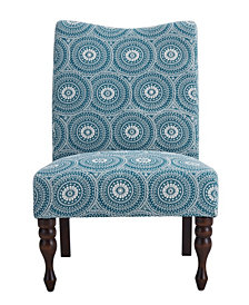 Payton Accent Chair, Medallion Aqua