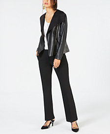 Alfani Drape-Front Jacket & Straight-Leg Trousers, Created for Macy's