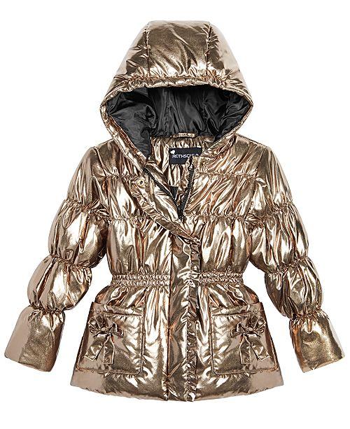 7b3239e00 ... S Rothschild & CO S. Rothschild Little Girls Hooded Metallic Puffer  Jacket ...